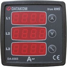 DATAKOM DA-0303 Painel Ammeter Digital, 3 Fases, fonte de alimentação 170-275V,