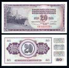 Yougoslavie Yugoslavia Billet 20 Dinara 1978 P88 NEUF