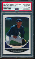 PSA 10 MIGUEL ANDUJAR 2013 Bowman Chrome #BCP160 Yankees Rookie Card RC GEM MINT