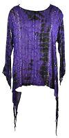 Jordash Purple & Black Boho Hippy Tie Dye Sparkly Mirror Top & Bells! Freesize