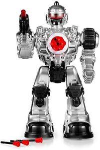 RC Radio Control TRANSFORMER Robot Shoot Missiles Walk Flashing Light Sound Kids