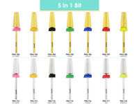 USA Pana 5 in 1 High Quality Two Way Tapered Nail Carbide Bit - Acrylic Hard Gel