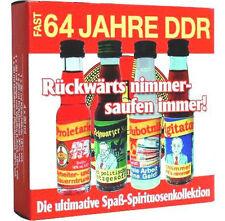 Fast 64 Jahre DDR Spaßliköre 4x 0,02l Geschenk Subbotnik Schwarzer Kanal usw.
