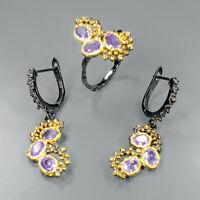 Amethyst Ring 925 Sterling Silver Size 9 /SRT_SET19-0151