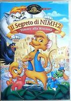 IL SEGRETO DI NIMH 2 - TIMMY ALLA RISCOSSA (1998) DVD EX NOLEGGIO  - MGM