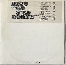 RICO : ON S'LA DONNE - [ CD ALBUM PROMO ]
