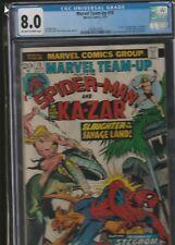 MARVEL TEAM UP FEATURING SPIDER-MAN AND KA-ZAR #19 CGC 8.0