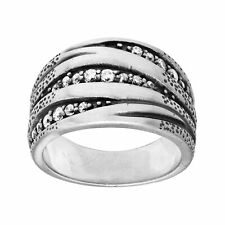 Silpada 'organics' Sterling Silver and Cubic Zirconia Ring Size 8 Rings Fashion