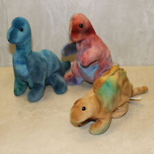 19c589adefe Ty Beanie Baby Dinosaur lot Trio - Rex Steg Bronty (SP)