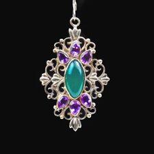 Collares y colgantes de joyería verdes amatista