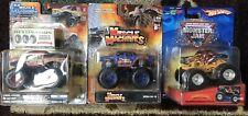 3 Carded Muscle Machines Bigfoot, Hw Airborne Ranger, Monster Trucks 2004  1/64