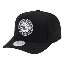 Philadelphia 76ers Mitchell & Ness NBA Black & White 110 Curve Snapback Hat