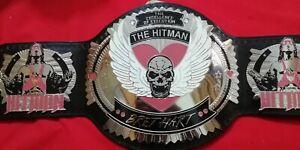 Bret Hart The Hitman Champions Wrestling Belt 2MM Plates Genuine Leather Replica