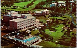 Aerial view New Belmont Golf& country Club Warwick Bermuda Postcard POSTED