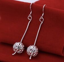 Women's Fashion Jewelry 925 Silver Plated Dangle Bead Drop Hook Earrings 44-9