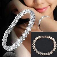Armband Damen Silber 17 Cm Armreif Silberarmband Versilbert Luxus Schmuck Neu