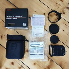 Sigma EX HSM OS DC 17 50mm F/2.8 Lens for Canon - used but near perfect