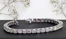 $8,900 TENNIS BRACELET 5.0 CT ROUND CUT NATURAL DIAMOND 14K GOLD DIAMOND GIFT