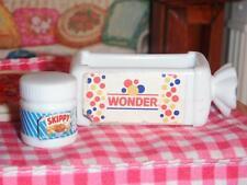 Barbie Fun Fixin Play Food Loaf of Wonder Bread & Jar of Skippy Peanutbutter Lot