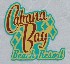 UNIVERSAL STUDIOS Cabana Bay Beach Resort Scrapbook Die Cut Title - SSFFDeb