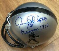Jim Plunkett autographed signed autograph Heisman mini helmet inscribed Stanford
