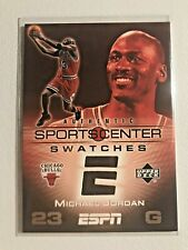 Michael Jordan 2005 Upper Deck Sports Center Swatches Card Game Used Rare SP M