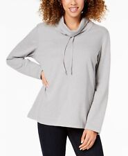 Karen Scott funnel-neck drawstring sweatshirt size XS activewear long sleeve