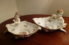 Beautiful Pair of Vintage Dresden Carl Thieme Sweetmeat Dishes