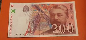 BILLET  DE 200 FRANCS  EIFFEL 1999