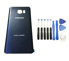 Samsung Galaxy Note 5 N920 Blue Black Glass Back Cover Housing Battery Door+Tool