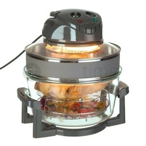 17L Halogen Air Fryer Rotary Convection Oven Multi Cooker Low Fat Health Grey UK