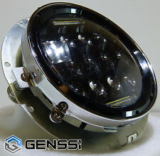 GENSSI 7 Inch Motorcycle 75W LED Headlight Low/High Beam DRL w/Bezel Mount