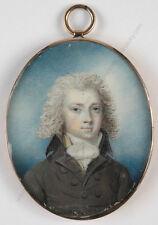 "Richard Cosway-Circle ""Portrait of a young aristocrat"", fine miniature, ca.1780"