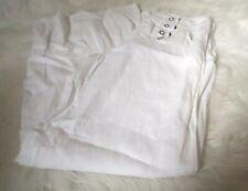 Venus Women's Luna Fit Linen Sailor Pants size 6 wide legs all white comfy