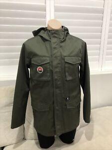 New Mens DC Snow Winter Jacket Shell Army Green Medium Lined [S1]