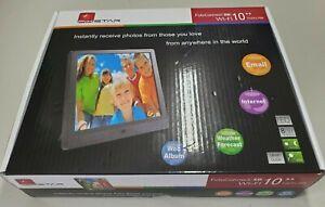 "Pixstar 10"" Digital Frame WiFi FotoConnect XD Open Box"