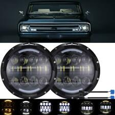 "DOT Pair 7"" In LED Headlight Round HI/LO Sealed Beam for Chevy Truck Camaro C10"
