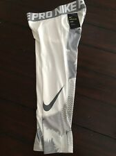 NEW! Nike Pro Hypercool Max Training Tights White Grey Mens 801801 Size Small