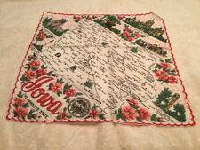 Vintage Ladies Souvenir State Handkerchief Hanky Iowa Unused