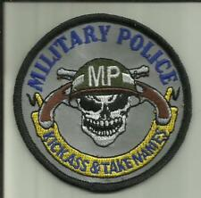 MILITARY POLICE PATCH KICK ASS & TAKE NAMES U.S.NAVY USMC U.S.ARMY USAF COPS USA