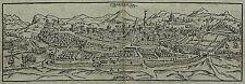 Holzschnitt 1588 - MONTPELLIER - Sebastian Münster