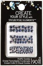Swarovski Elements Hot Fix Crystals, Light Sapphire Satin Combo Crafts
