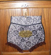 Vintage 1960's Underwear Hoisery Hamper Lingerie Bag Lace Undies Hanger Loren Co