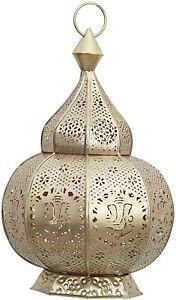 Metal Handmade Moroccan Style Candle Holder Lantern Garden Decorative Lamp