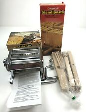 Imperia Pasta Maker Machine And Stendipasta Drying Rack Both  New Old Stock
