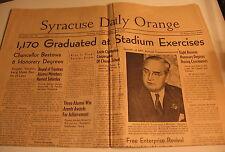 June 5, 1939 Syracuse Daily Orange newspaper