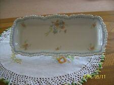 Celery Serving  Dish Vintage Long Scalloped Edge Porcelain Floral Pattern