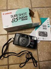 New ListingCanon Sure Shot 85 Zoom Date 35mm Film Camera w/ Box & Manual C13-3812