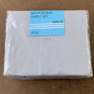 Light Gray Microfiber Twin XL Size 3 Piece Sheet Set NWT