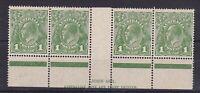 G353) Australia 1927 KGV 1d Green sml. multiple wmk perf 14, N over N Ash imprnt